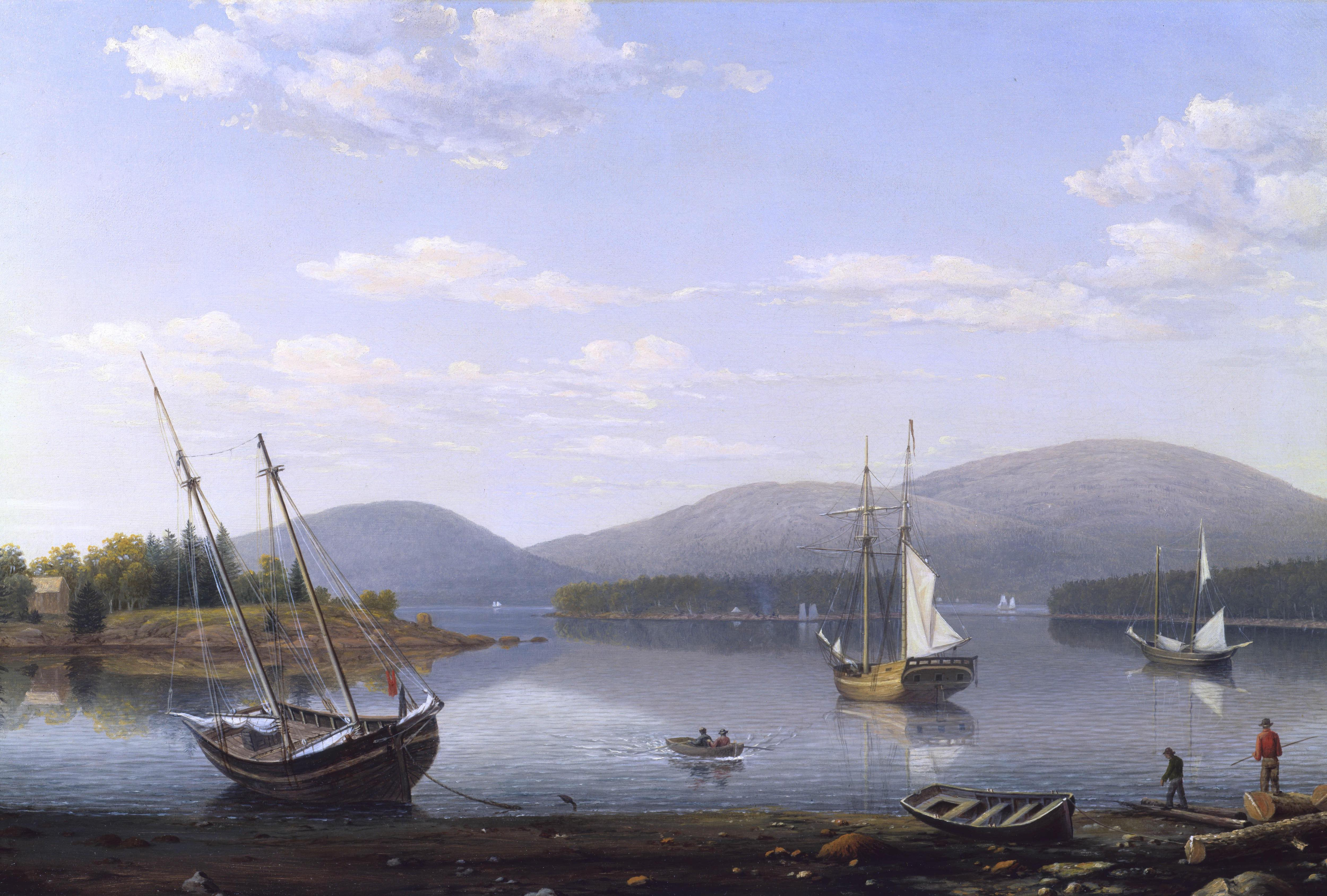 Fitz Henry Lane | View of Bar Island and Mount Desert Mountains