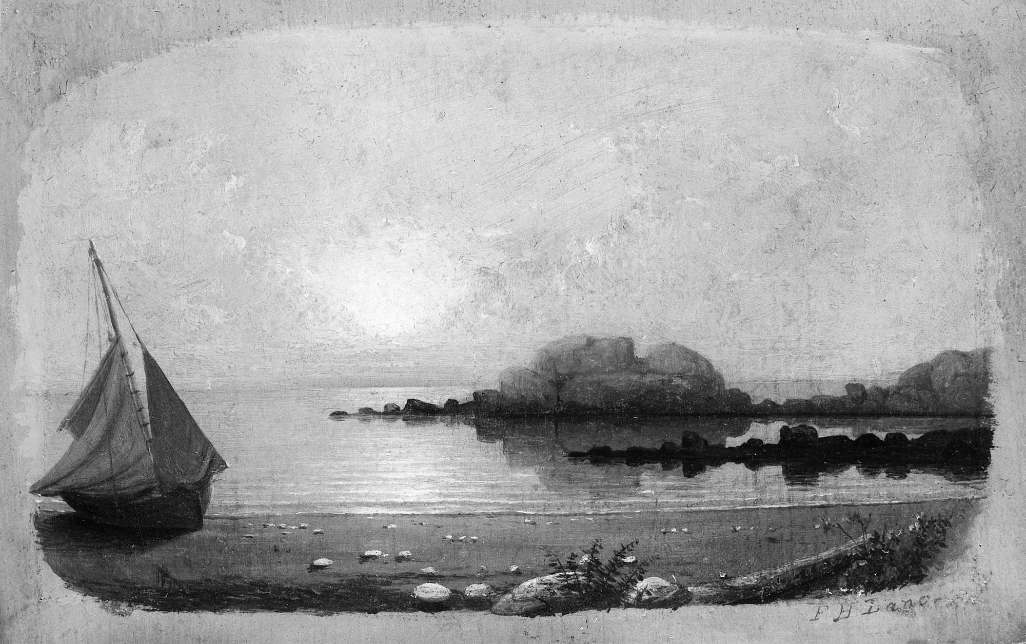 Brace's Rock, Eastern Point (not published), 5 1/4 x 8 1/2 in. Private Collection.