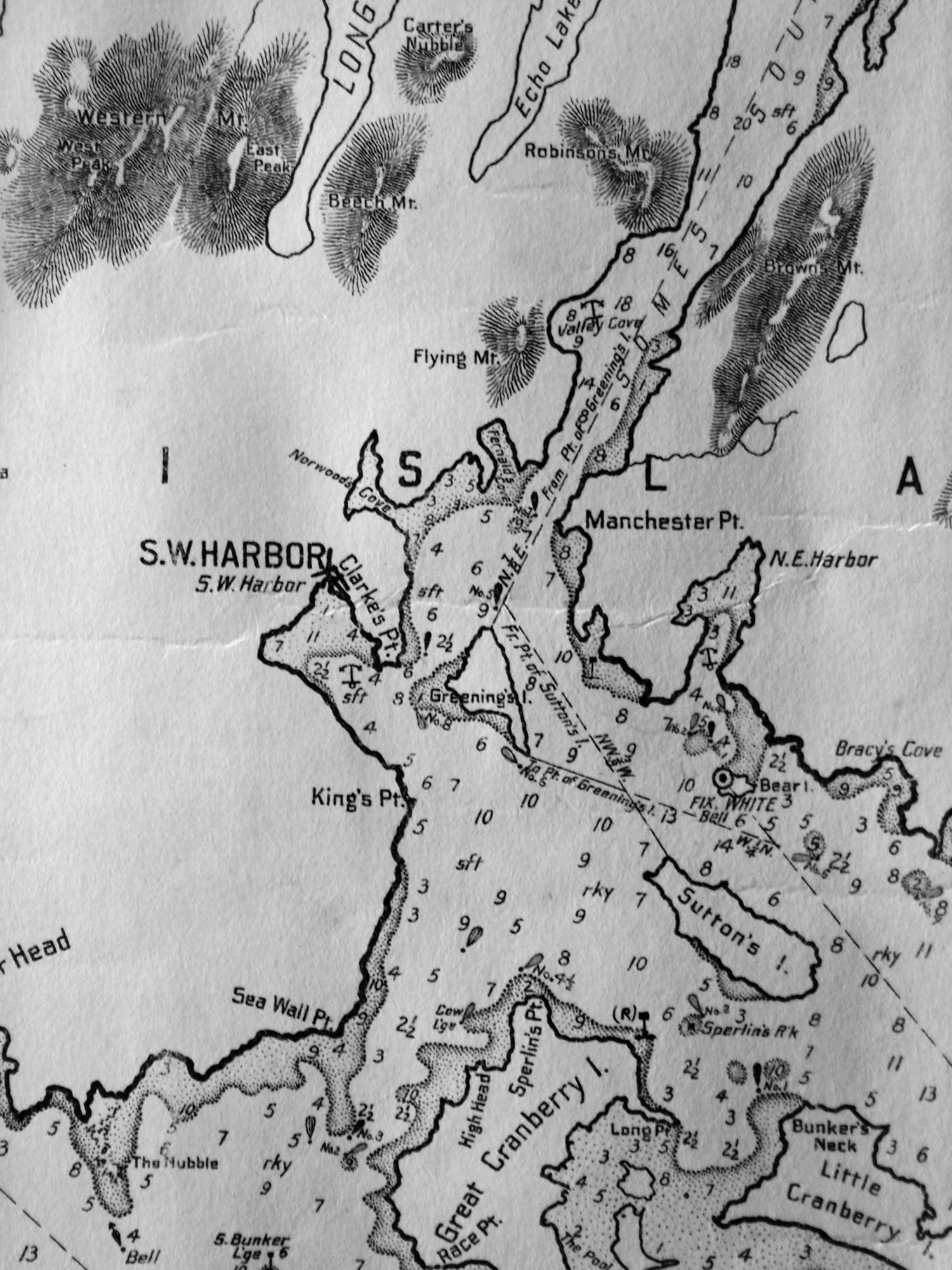 Fitz henry lane entrance of somes sound mount desert maine 1855 chart geenschuldenfo Image collections