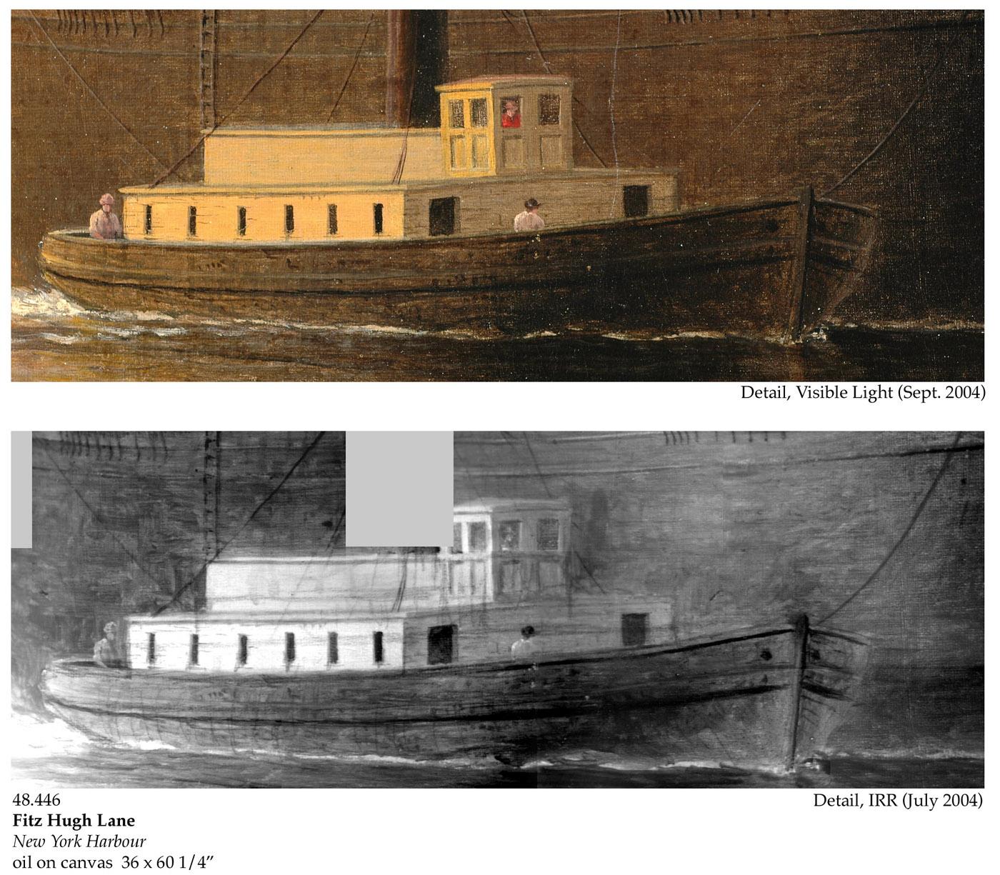 Fitz Henry Lane   New York Harbor, c  1855 (inv  46